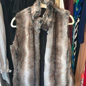 Women's Reversible Fur Vest, Size Small